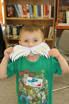 Jacob Showing Off His Lorax Moustache.