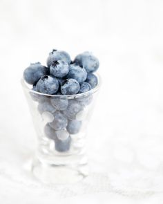 Blueberry Shot  Blueberries in a glass Photo by LisaBonowiczPhotos, $75.00