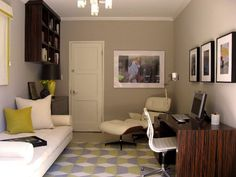 Room Inspiration: Shared Office & Guest Rooms