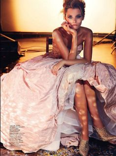 """Ballroom Blitz"" Abbey Lee Kershaw for Vogue Australia April 2014"