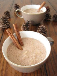 Eggnog Brown Rice Pudding