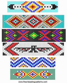 Beaded hat band pattern