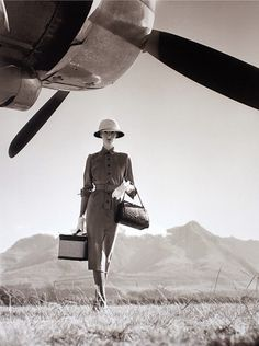 The Art of Travel, British Vogue, May 1951. Photo by Norman Parkinson. #vintage #1950s #lady_explorer
