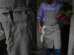 Handmade Full Apron From Eco Friendly Linen. £32.00, via Etsy.