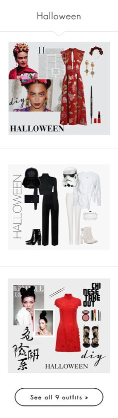 """""""Halloween"""" by angelafloresv ❤ liked on Polyvore featuring Giorgio Armani, Anastasia Beverly Hills, Dolce&Gabbana, Burberry, STELLA McCARTNEY, Gianvito Rossi, Edie Parker, Prada, Lanvin and WearAll"""