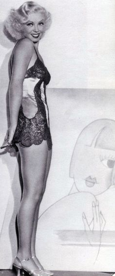 1930's Lingerie - Toby Wing as Sally Palmer in Search for Beauty, 1934 - Costume design by Travis Banton - @~ Mlle