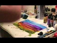 Alcohol Ink Landscape Demo - YouTube