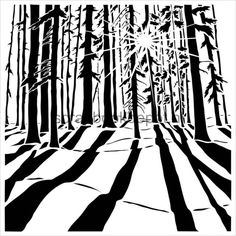 Mini 6x6 Template Sunlit Forest