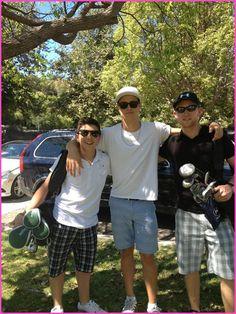 """""""Good Luck Charlie"""" Co-Stars Bradley Steven Perry, Shane Harper And Jason Dolley Go Golfing"""