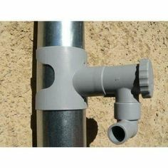 Rain Water Collector for Circular Ducting Grey Rain Water Collector, Conduit, Pet Water Fountain, Water Filter, Permaculture, Binoculars, Filters, Container, Fixation