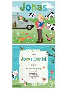 Een kaartje op maat voor Jonas   www.zwiep.nu