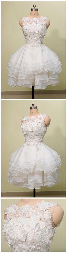 Short Homecoming Dress,White Homeco