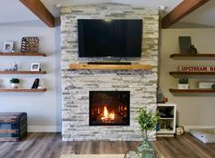A fireplace is a once-in-a-lifetime purchase that forever transforms your home. Choose the brand known for a century-old tradition of quality craftsmanship. Choose Mendota Hearth.  Thanks to Edghill Motors of Ord, Nebraska, for this photo of an FV41 Mendota #gasfireplace with Forest Oak HD Log Set and Black Flat Porcelain Reflective Liner.