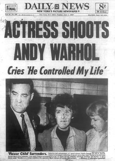 Newspaper Front Pages, Vintage Newspaper, Evan Peters, Andy Warhol Shot, Ahs Cult, New York Pictures, Newspaper Headlines, Journal, Flower Of Life