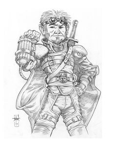 Guinnesh Daergal by Everwho on deviantART - gnome thief/illusionist/artificer in a glide-suit sort of thing with a gatling-gun-like weapon. Character Portraits, Character Art, Pathfinder Character, Savage Worlds, Forgotten Realms, D D Characters, Fantasy Rpg, Gnomes, Adult Coloring