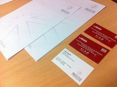 Ultimos trabajos: impresión de tarjetas personales, folletos y hojas membretadas para Protectio-Seguridad Industrial