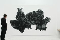 THE MIDSUMMER MARRIAGE  by Stephan Balleux  420 × 150 cm  pastel on paper  2009