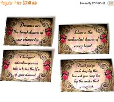 25% Off Sale 4 Laminated Magnets Inspirational by TAKUniqueDesigns