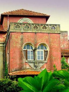 Heart window in Portugal