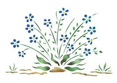 Quickly and easily create a country ambience in your home with our Forget-Me-Not Painting Stencil!