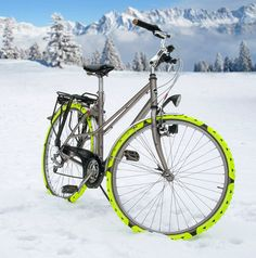 tire spikes for riding in the snow! Cesar van Rongen