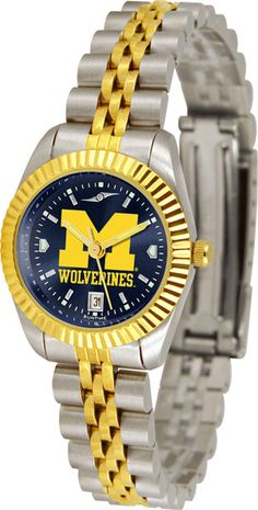 Michigan Wolverines Ladies Executive Watch With AnoChrome Dial