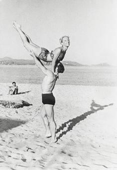 Joyful 1930s Snapshots of Ballet Dancers Dancing at the Beach or the Pool on Their Days Off