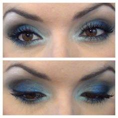Maquiagem Azul com Produtos Nacionais