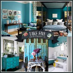 Let's Decorate with the Color Teal...5 fab rooms!