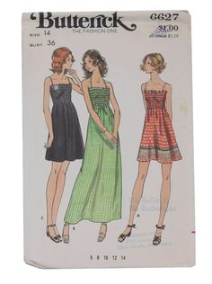 70s -I made a long dress similar to this with a border print.