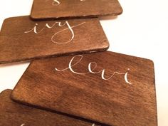 Wood Place Cards by ElynLettering.