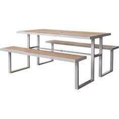 Outdoor Patio Furniture: Threshold Wood Picnic Table, Bryant Collection