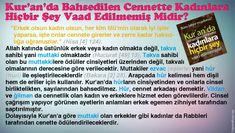 [TR] Kur'an'da Bahsedilen Cennette Kadınlara Hiçbir Şey Vaad Edilmemiş Midir?