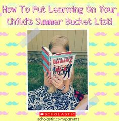Tips for creating a summer bucket list with your family.