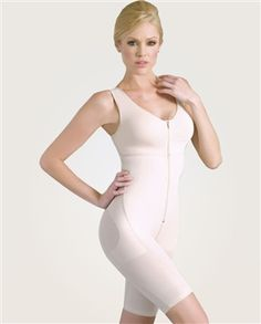 Powernet Full Body Girdle-     Lifts up the buttocks. 100% cotton fabric bust area for extra comfort. Ergonomic design seams. Comfortable adjustable microfiber rubber band straps . Waist and thighs control. Zipper with internal pins. The compression rating on this garment is high. $124