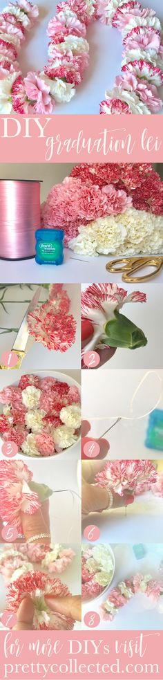 How to Make a DIY Flower Lei for Graduation - Pretty Collected