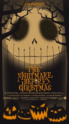 "Alternative poster for Tim Burton's ""The Nightmare Before Christmas."""