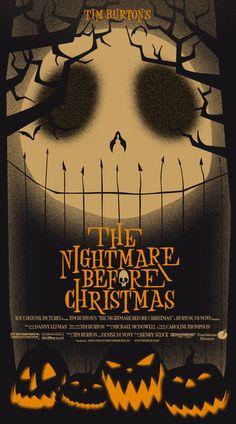 "Alternative poster for Tim Burton's ""The Nightmare Before Christmas."""