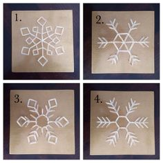 Gold Snowflake String Art by PlumRuffle on Etsy
