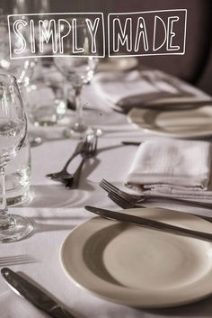 One of favorite materials in the workshop is a drop cloth - it's a blank canvas that can be used for everything from protecting your floor when embarking on a paint project, to DIY'ing a chic and simple tablecloth and napkins. A drop cloth tablecloth is rustic, but refined enough for Holiday guests,