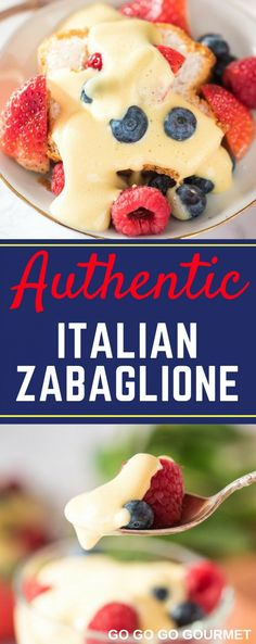 You are going to love this easy Authentic Italian . You are going to love this easy Authentic Italian Zabaglione recipe! Cool and creamy custard with berries and cake in a mini trifle. You can make this without wine, but I prefer to use marsala! Tiramisu Dessert, Custard Desserts, Custard Recipes, Köstliche Desserts, Summer Desserts, Baking Recipes, Dessert Recipes, Health Desserts, Cake Recipes