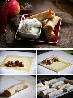 Baked Apple Pie Egg Rolls! (recipe/tutorial)     YUM!