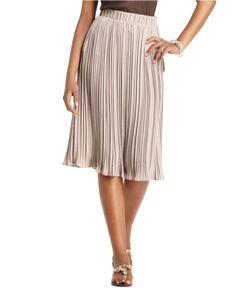 Spense Skirt, Pleated Knee Length - Womens Skirts - Macy's $38