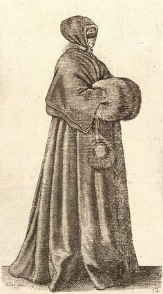Hollar - Mujer con mascara, capa y manguitos