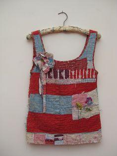Garments - Mandy Pattullo.  quilts made into garments, making old garments more precious, manipulation, embellishment, up-cycling.
