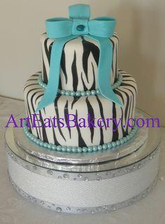 black and white zebra stripe cakes | black and white zebra striped creative unique girl's birthday cake ...
