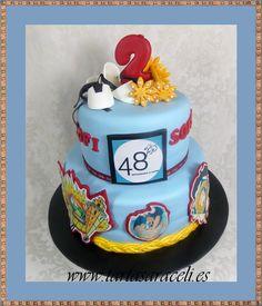 48 Restaurante & copas, nos pidió una tarta para el segundo aniversario de dos presidentes de fallas. 2º año juntos