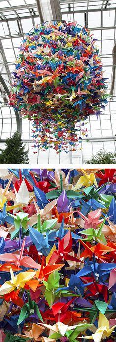 18 Trendy Ideas For Origami Paper Crane Beautiful Origami Paper Crane, Origami Bird, Origami Folding, Origami Owl Jewelry, Useful Origami, Origami Animals, Origami Flowers, Paper Flowers, Origami Cranes