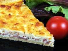 QUICHE LORRAINE 1 frozen pie crust 8 slices bacon cut into pieces and cooked 2 large eggs 2 large egg yolks 1 cup whole milk 1 cup heavy cream teaspoon salt teaspoon white pepper a pinch of nutmeg cup gruyere cheese What's For Breakfast, Breakfast Items, Breakfast Dishes, Breakfast Recipes, Quiche Recipes, Brunch Recipes, Quiches, Great Recipes, Favorite Recipes