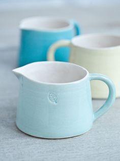 Keramik Milch Kännchen Pastellfarben
